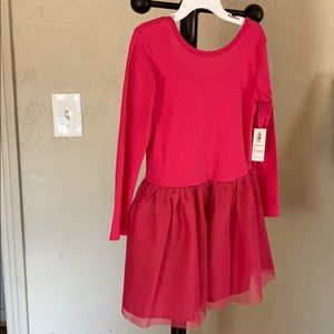 Pink dress with tulle skirt. NWT